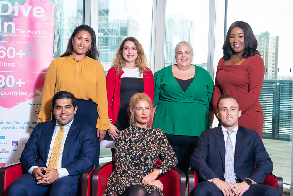 Speakers at Dive In Festival 2019 showing diversity and inclusion in insurance
